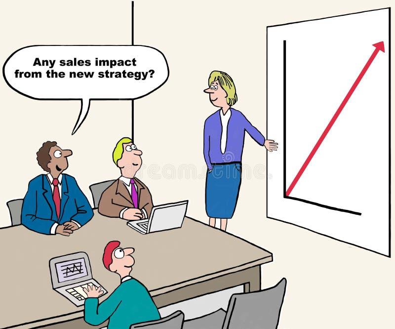 New Strategy Impact royalty free illustration