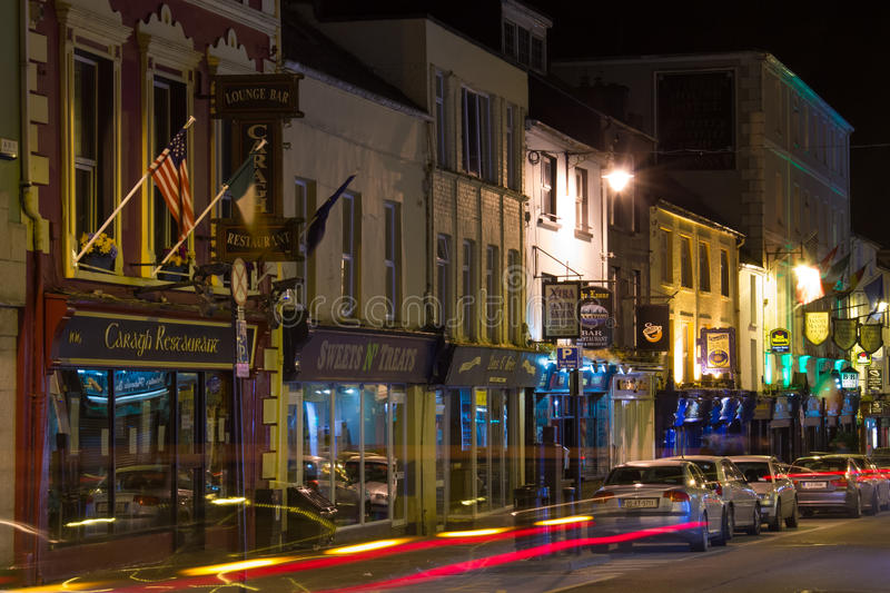 New Street at night. Killarney. Ireland. New Street at night, centre of nightlife . Killarney. County Kerry. Ireland stock image
