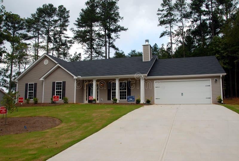 New suburban home stock image