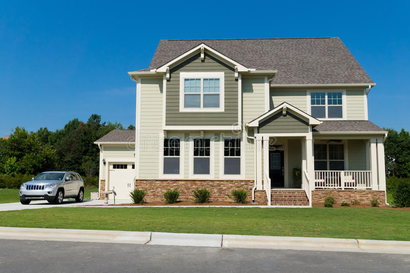 Download New suburban house stock photo. Image of residence, modern - 32690810