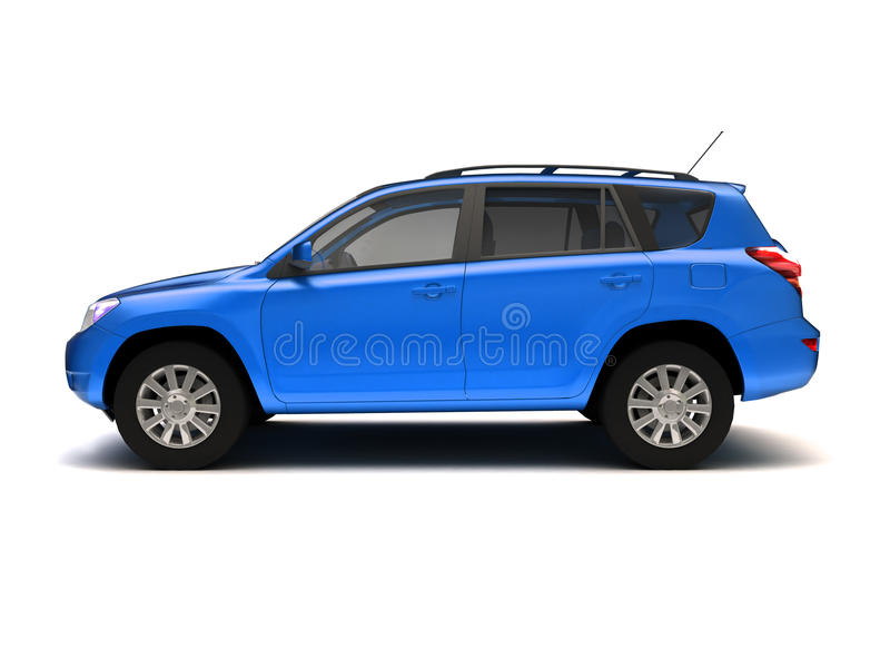 New SUV side view stock illustration