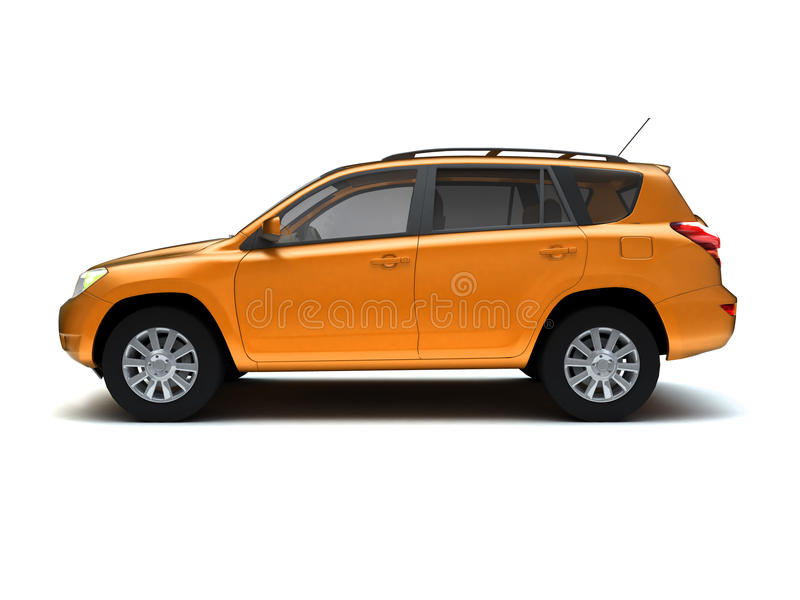New SUV side view royalty free stock photo