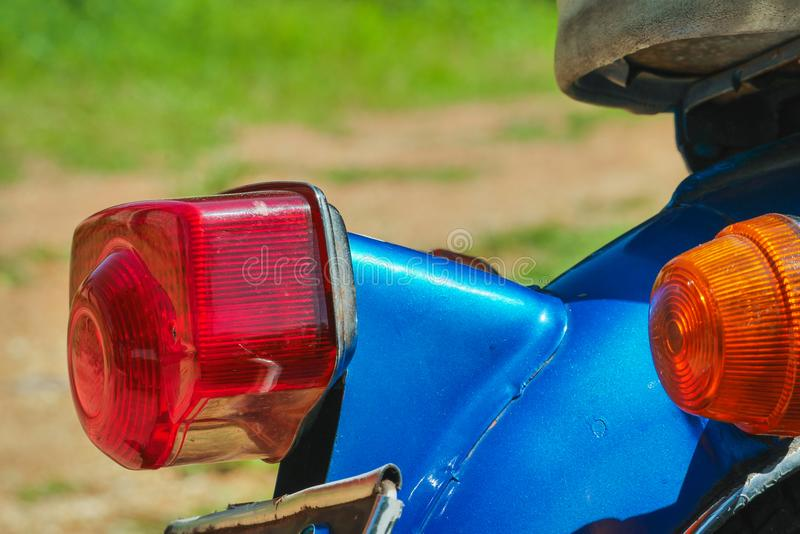 New tail light cover Old Motorbike The shocking value added to make the old car beautiful again stock photo