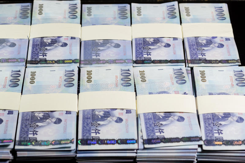 New Taiwan Dollars In Stacks Stock Image - Image of ...