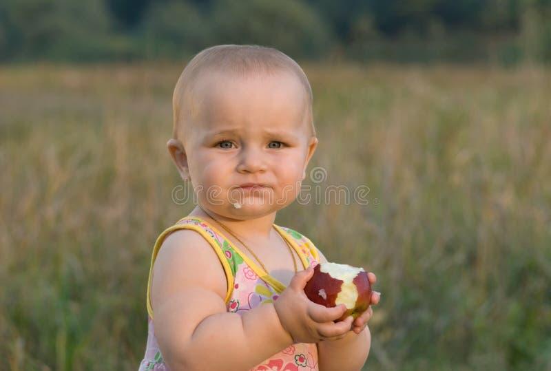 New taste. An apple. stock photography