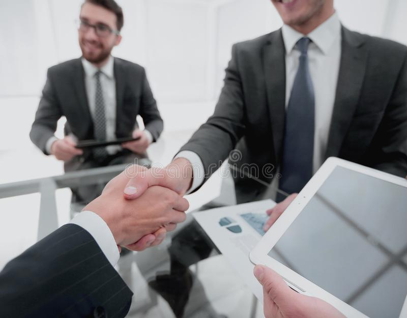 New technologies in business development stock image