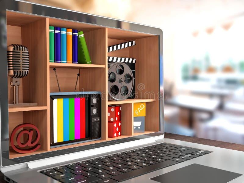 New technologies. Laptop. Multimedia concept vector illustration
