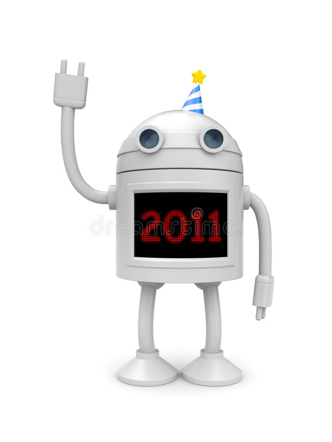New technologies in new year vector illustration