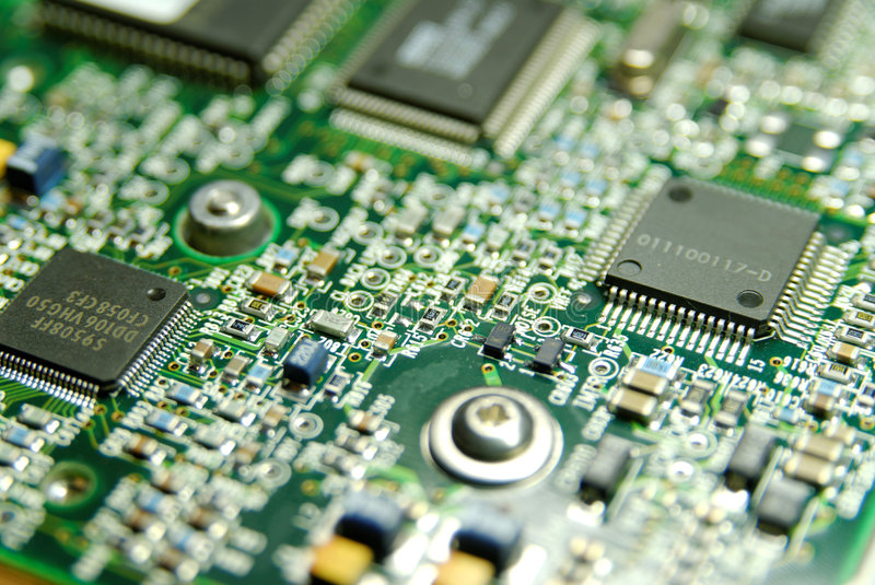 New Technology. Electronics Industry, Component, Silicon, Macro royalty free stock photography