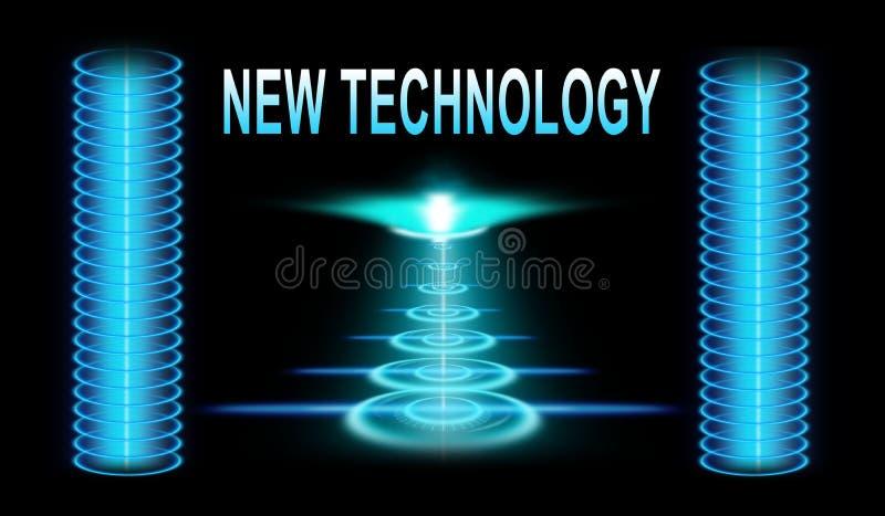 New technology concept stock illustration