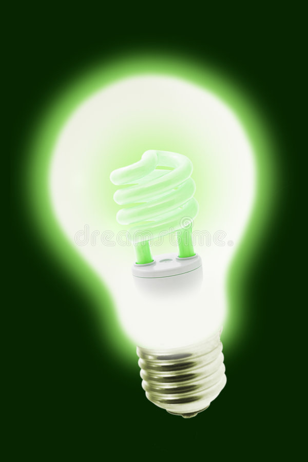 New Technology Energy Saving Electric Bulb Royalty Free Stock Photos