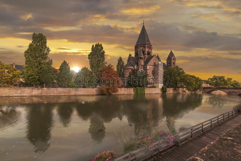 New Temple Metz royalty free stock photo
