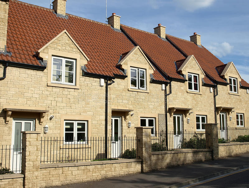 Download New Terraced Houses stock image. Image of exterior, council - 11169097