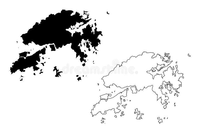New Territories region Hong Kong Special Administrative Region of the People`s Republic of China, Hong Kong SAR map vector vector illustration