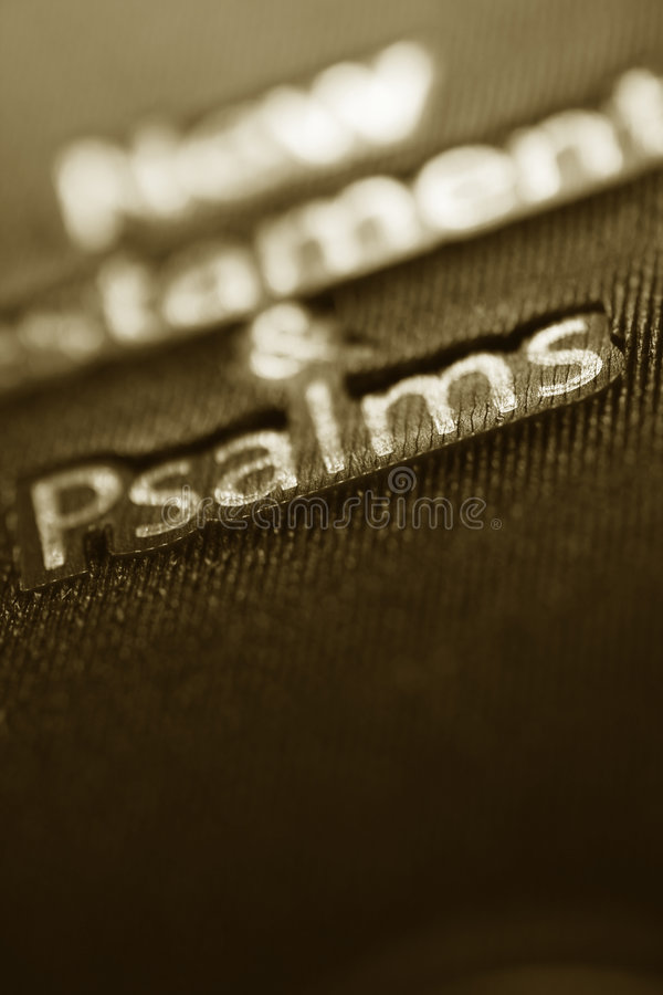 New Testament and Psalms book. In sepia tone royalty free stock photos