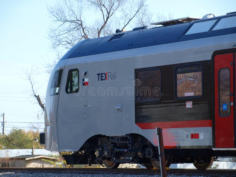 First TEXrail Units Appear On Landscape Editorial Stock
