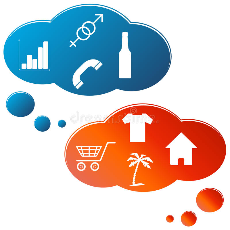 Download New thinking stock vector. Image of cloud, male, worker - 29357838