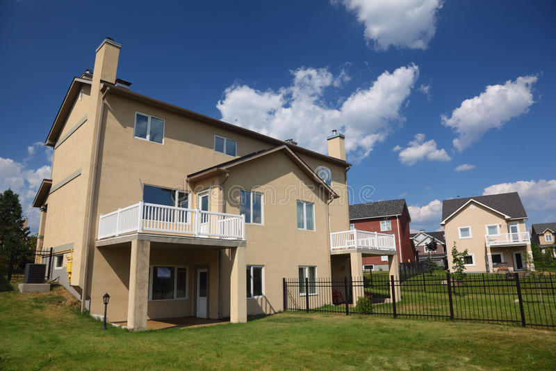 Download New Three-storied Cottage With Balcony Stock Image - Image: 20918025