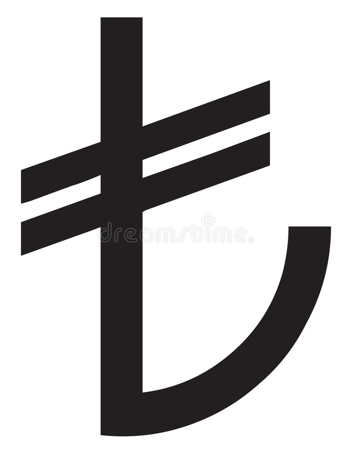 Download New TL Symbol stock vector. Illustration of euro, income - 23738541