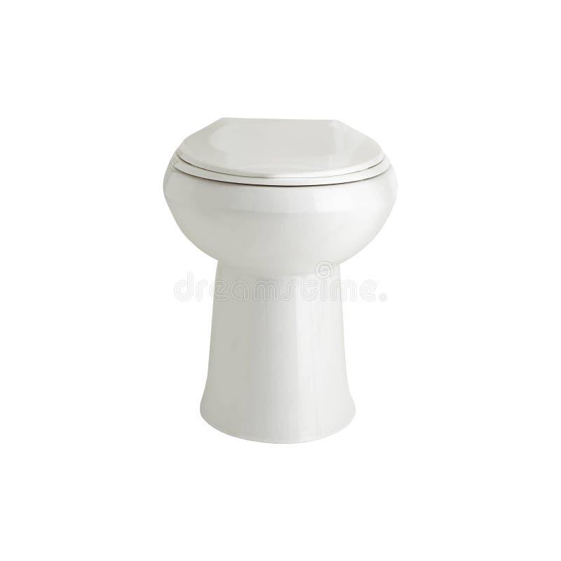 New toilet bowl isolated on white. Background stock image