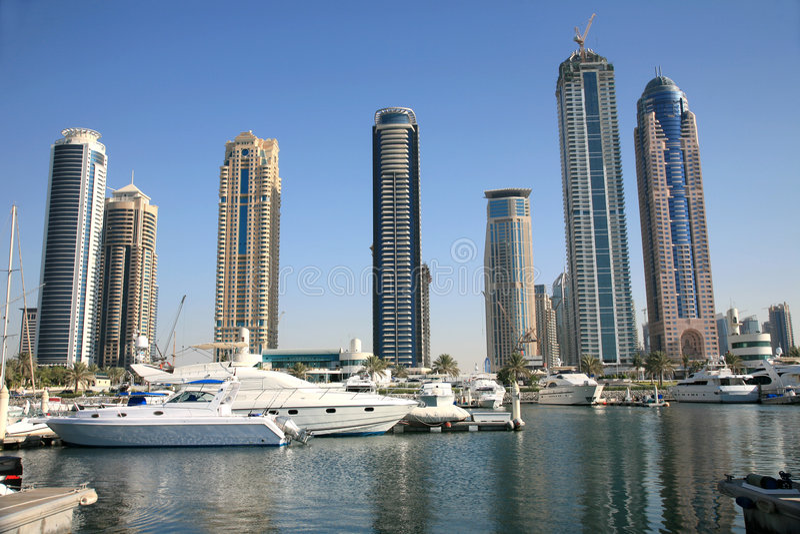 New Town of Dubai stock photography