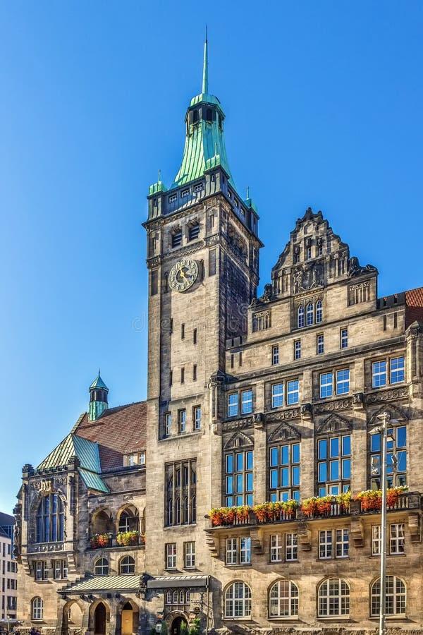 New Town Hall, Chemnitz, Germania fotografia stock