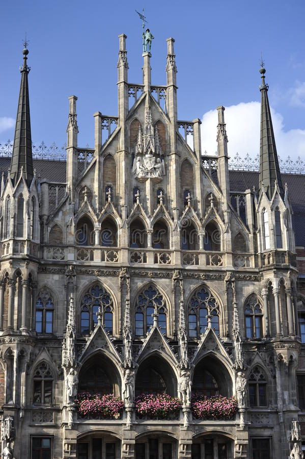 New Town Hall, Munich, Bavaria, South-Germany Royalty Free Stock Photos
