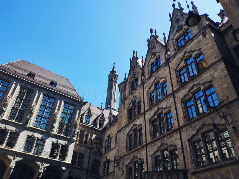 New Town Hall op Marienplatz Mary Square in München, Duitsland stock fotografie