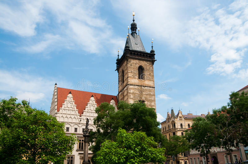 New Town Hall in Prague stock images
