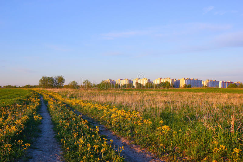 Download New Town Houses In The Meadow. Royalty Free Stock Photo - Image: 25062205