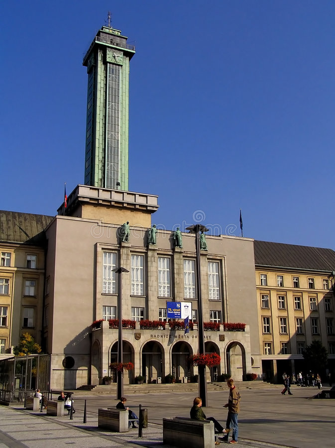 New townhall of Ostrava. In Czech republic stock photos
