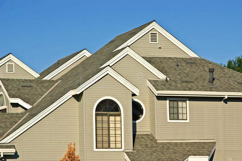 New townhouses royalty free stock photos
