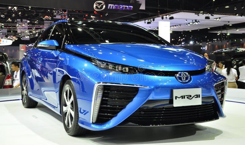 The new Toyota Mirai at the 36th Bangkok International Motor Show royalty free stock photos