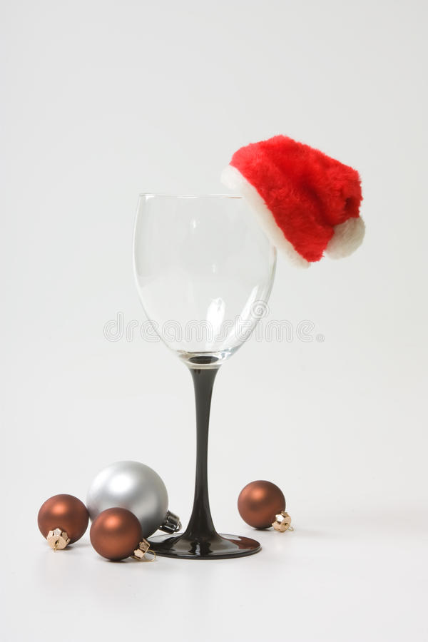 New toys and Santa's hat royalty free stock image