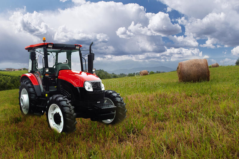 Download New tractor in the field stock image. Image of harvest - 25549649