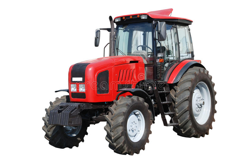 New tractor on white background stock images