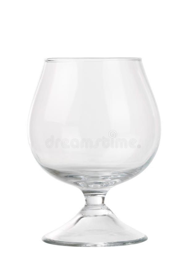 New transparent wineglass on white royalty free stock images