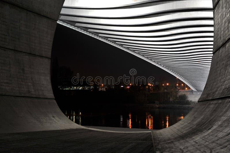 New Troja bridge. royalty free stock photography