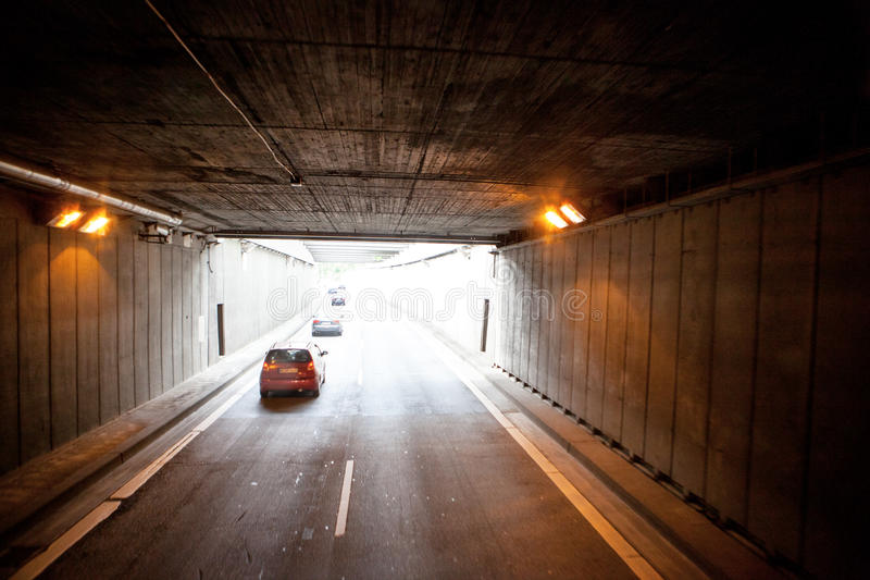 New Tunnel on the autobahn roads of Germany. BERLIN, GERMANY - MAY 18, 2015: New Tunnel on the autobahn roads of Germany on May 18, 2015 stock photos