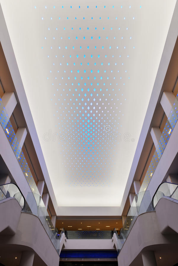Download New Type Of LED Lighting Used On Modern Commercial Building Ceiling  Stock Illustration - Image