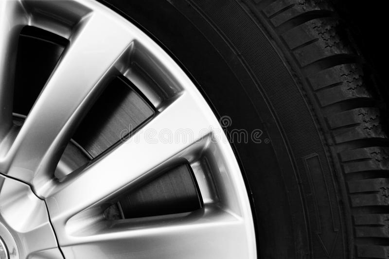 Download New tyre stock image. Image of silver, metal, close, white - 17402109