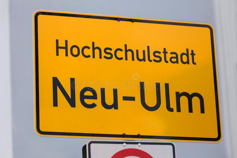 New ulm germany city sign. A new ulm germany city sign stock photography
