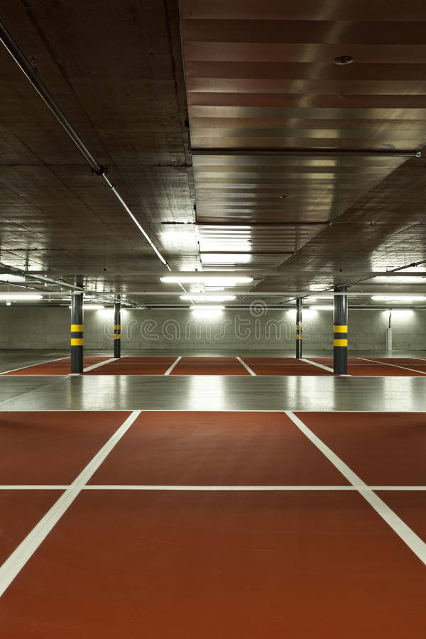 New Underground Parking Royalty Free Stock Images