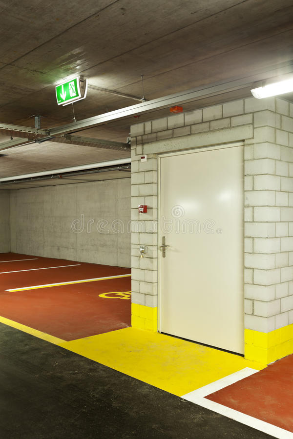 Download New underground parking stock image. Image of interior - 23758351