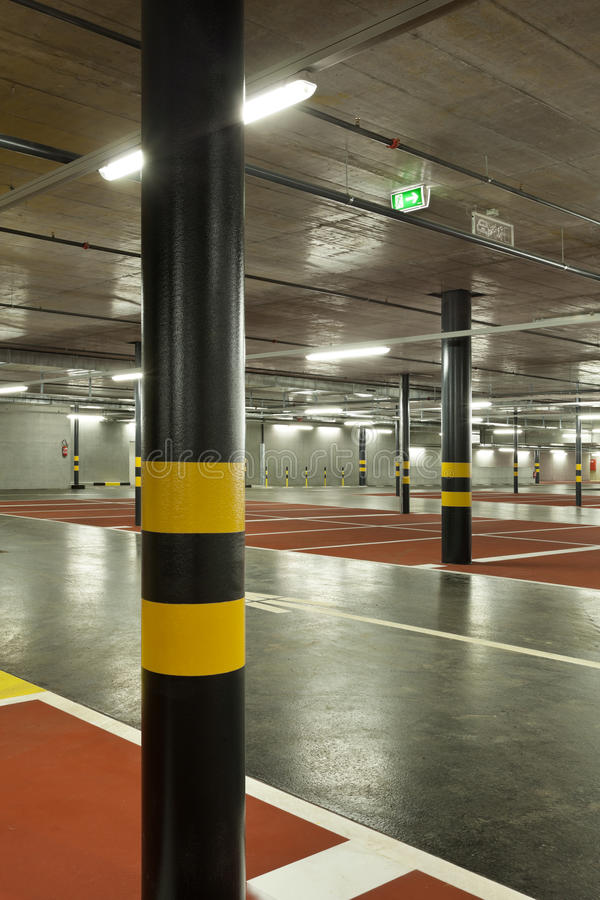 Download New underground parking stock photo. Image of passage - 23819372