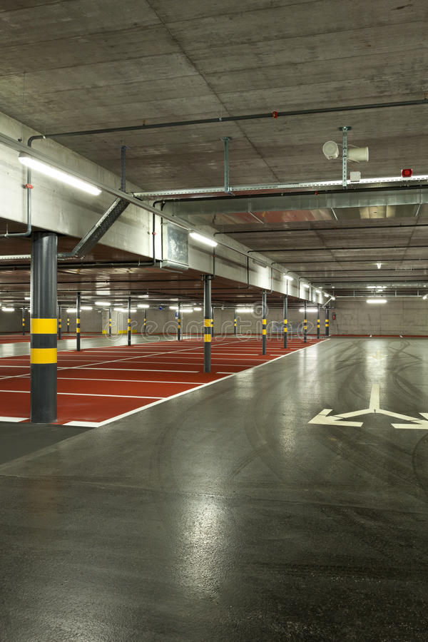 New Underground Parking Stock Photography