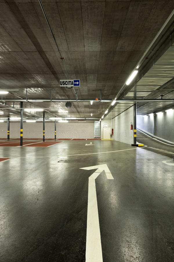 New underground parking royalty free stock photos
