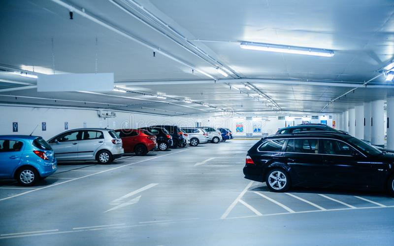 New underground parking in Schlossplatz Karlsruhe, Germany royalty free stock image