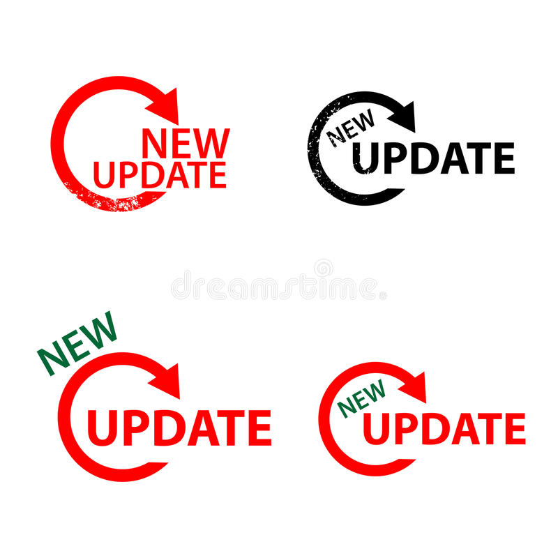 New update sign vector illustration