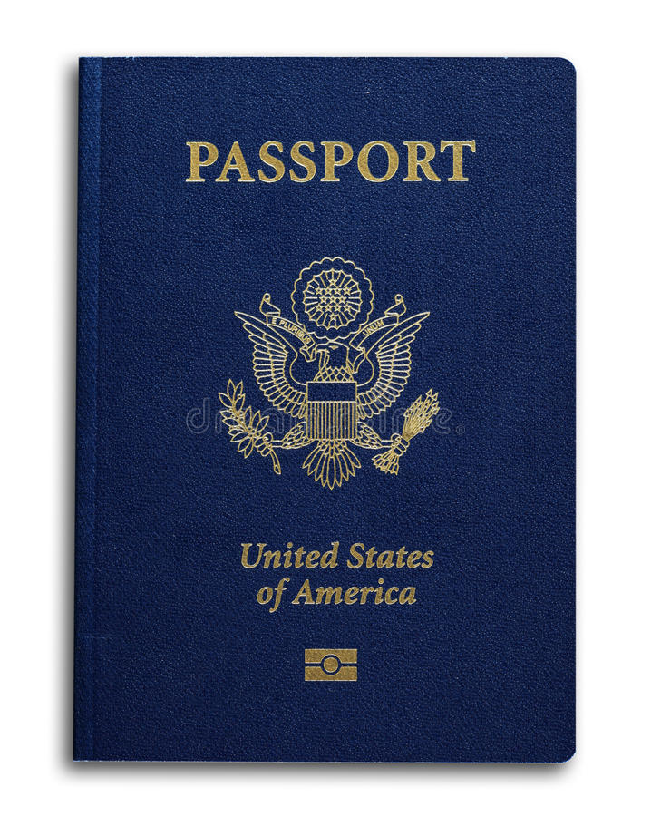 New US Passport. With ID chip isolated on white